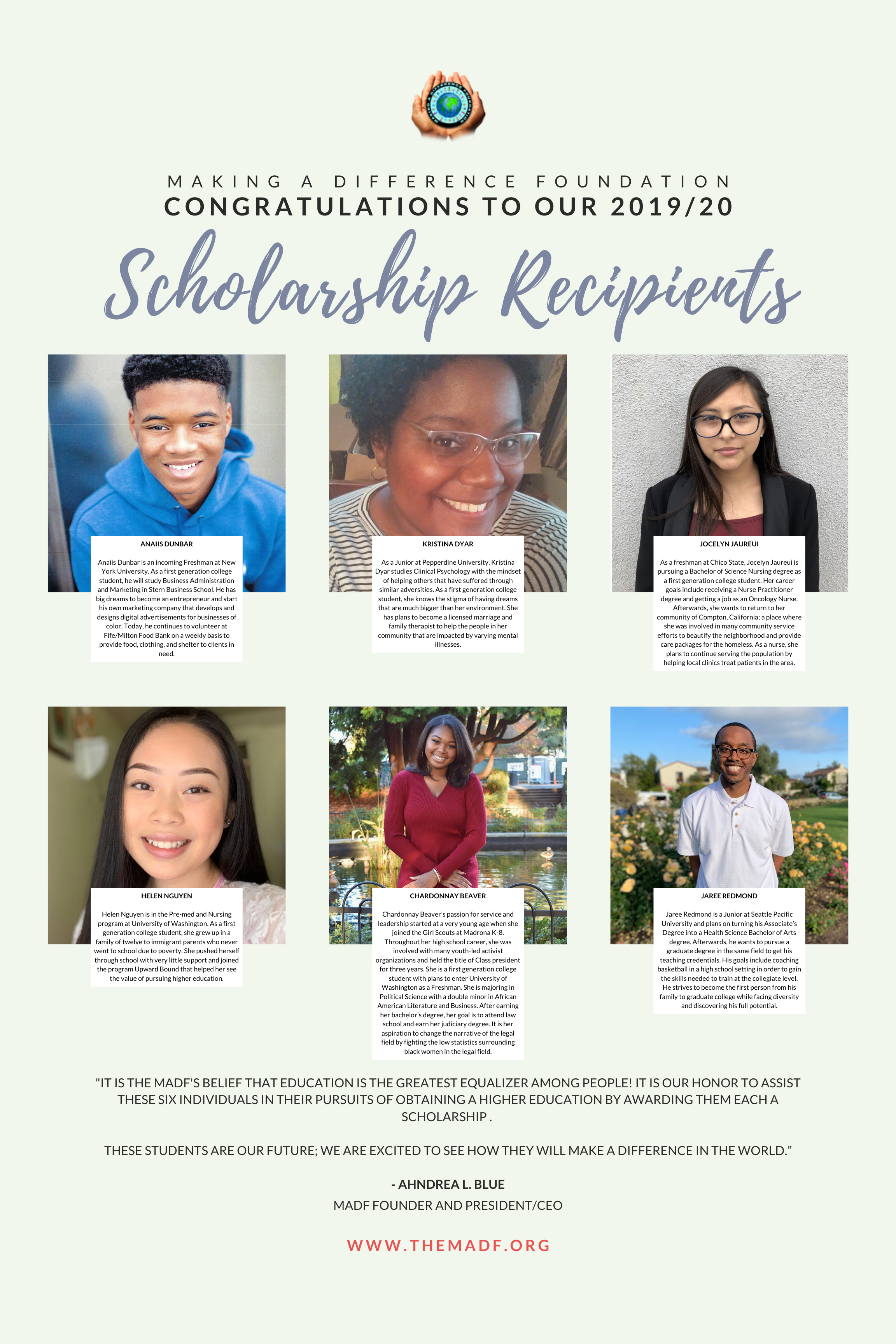 College Scholarships - The Making a Difference Foundation