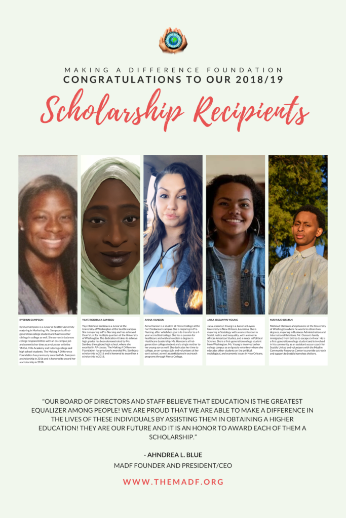College Scholarships – The Making a Difference Foundation